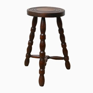 Mid-Century French Bobbin Stool or Side Table