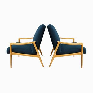 Blue Armchairs by Jiří Jiroutek, 1960s, Set of 2