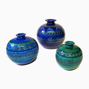Vasi in ceramica di Aldo Londi per Bitossi, anni '70, set di 3