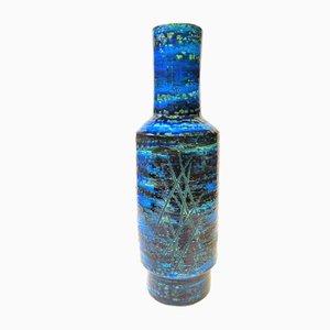 Rimini Blu Vase von Aldo Londi für Bitossi, 1960er
