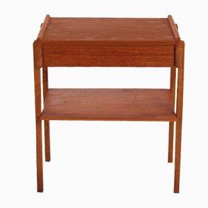 Vintage Teak & Oak Bedside Table, 1960s
