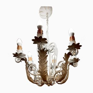 Wrought Iron Chandelier, 1950s