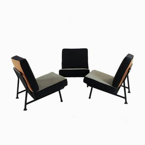 Lounge Chair Set by Alf Svensson for Dux Sweden, 1960s, Set of 3
