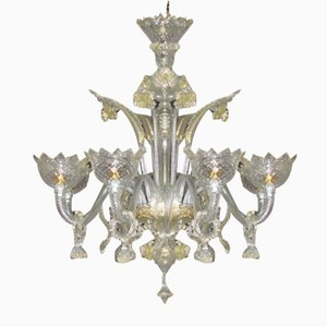 Venetian Crystal Gold Chandelier by Briati Giuseppe, 18th Century
