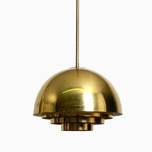 Brass Ceiling Lamp from Vereinigte Werkstätten Collection, 1950s
