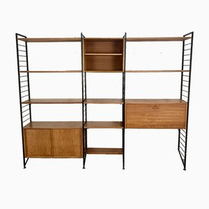 British Teak & Metal Ladderax Modular Shelving Unit by Robert Heal for Staples Cricklewood, 1960s