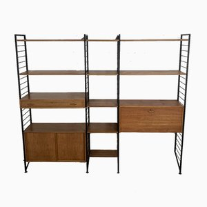 British Teak & Metal Ladderax Modular Shelving Unit by Robert Heals for Staples, 1960s