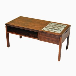 Danish Rosewood & Ceramic Chest of Drawers by L. Hjorth, 1950s