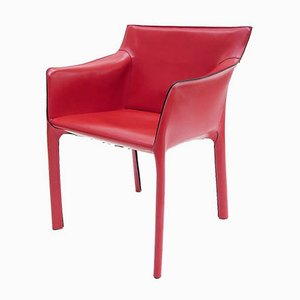 Rote Venusia Armlehnstühle von Matteo Grassi, 1990er, 4er Set