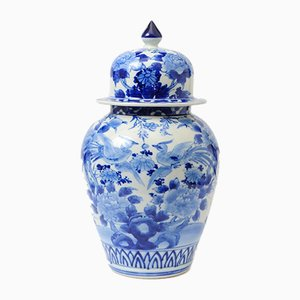 Antique Japanese Meiji Period Seto Porcelain Vase