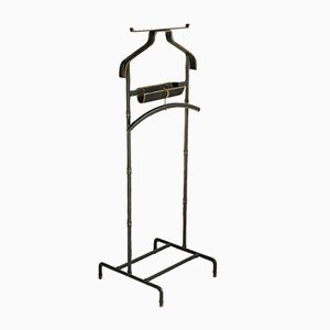 French Valet Stand with Hanger by Jacques Adnet for Compagnie des Arts Français, 1950s, Set of 2