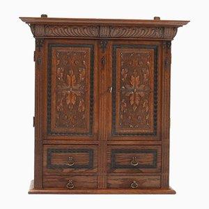 Antique Neo-Renaissance Oak Wall Cabinet, 1900s