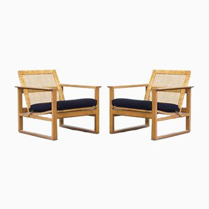 Lounge Chairs by Børge Mogensen for Fredericia, 1950s, Set of 2