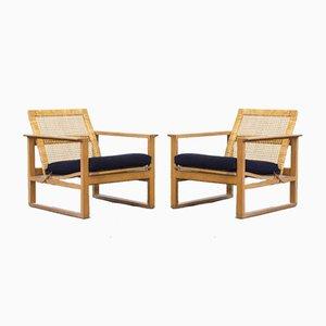 Sessel von Børge Mogensen für Fredericia, 1950er, 2er Set