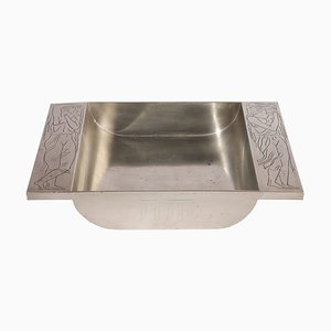 Pewter Athena Tray by Oscar Antonsson for Ystad-Metall, 1937