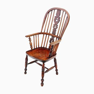Victorian Ash & Elm Windsor Armchair, Circa 1860