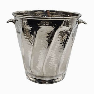 Vintage Handmade Silver-Plated Wine Cooler with 2 Handles from OLRI / Greggio