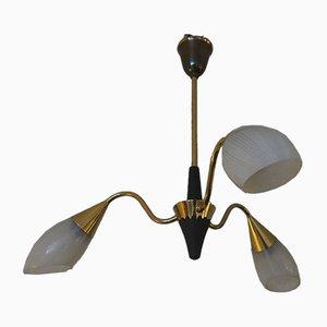 Dänische Deckenlampe im Stilnovo Stil, 1950er