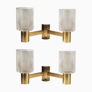 Mid-Century Sconces by Carl Fagerlund for Orrefors, Set of 2