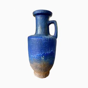 Große Mid-Century Keramik Vase von Karlsruher Majolika