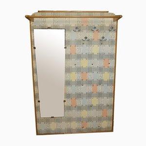 Pastell Garderobe mit Spiegel, 1950er