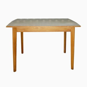 Wood & Formica Kitchen Table with Drawer, 1950s