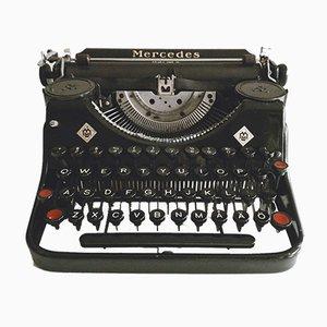 Macchina da scrivere Prima Qwerty con custodia originale di Mercedes, anni '30