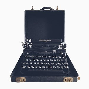 Rand Model 1 Manual Qwerty Typewriter with Original Case from Remington, 1930s