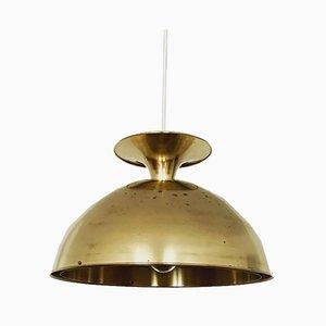 Swedish Brass Pendant Lamp, 1960s