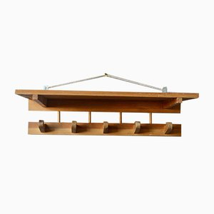 Modernist Pine Coat Rack, 1960s