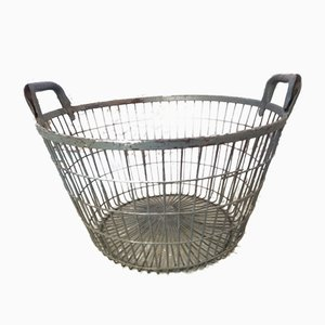 Industrial Baskets, 1940s, Set of 2
