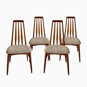 Mid-Century Eva Dining Chairs by Niels Koefoed for Koefoeds Hornslet, Set of 4