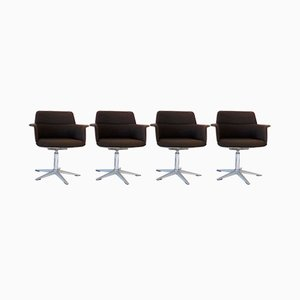 Dining or Desk Chairs by Georg Leowald for Wilkhahn, 1960s, Set of 4