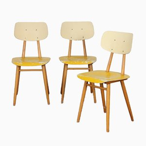 Wooden Chairs from TON, 1960s, Set of 3
