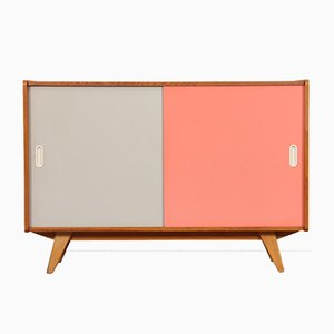 Pink & White U-452 Chest of Drawers by Jiří Jiroutek for Interier Praha, 1960s