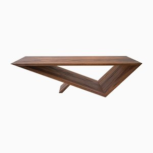 Time/Space Portal Coffee Table in Walnut by Neal Aronowitz