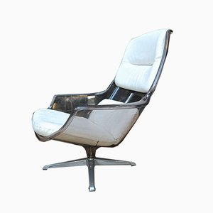 Revolving Imitation Leather & PVC Lounge Chair, 1970s
