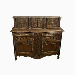 Louis XV Style Provencal Solid Walnut Buffet, 1880s