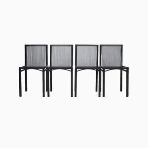 Slat Dining Chairs by Ruud Jan Kokke for Metaform, 1980s, Set of 4