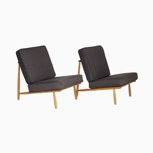 Mid-Century Model Domus Lounge Chairs by Alf Svensson for Dux, 1950s, Set of 2