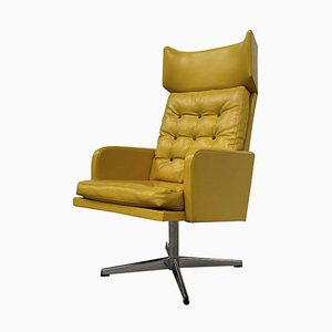 Leatherette Swivel Chairs, 1970s, Set of 4