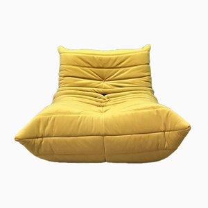 Gelbes Vintage 1-Sitzer Togo Sofa Modul von Ligne Roset