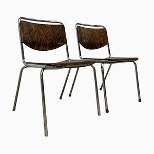 Mid-Century Stackable Tubular Desk Chair