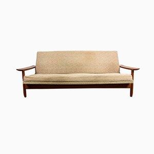 Scandinavian Style Solid Teak & Fabric 4-Seat Sofa by Gerard Guermonprez for Guermonprez, 1960s