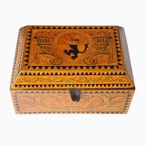 Antique Wooden Jewelry Box, 1900s