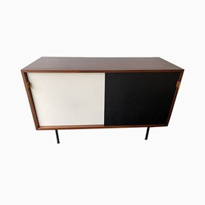 Mid-Century German Wood & Cane Model 116 Credenza by Florence Knoll Bassett for Knoll Inc. / Knoll International, 1950s