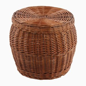 Large Vintage Wicker Basket, 1960s