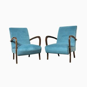 Italian Lounge Chairs by Paolo Buffa, 1940s, Set of 2