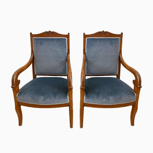 French Second Empire Lounge Chairs, Set of 2