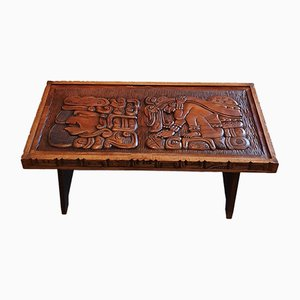 Central American Handcrafted Wooden Coffee Table, 1960s